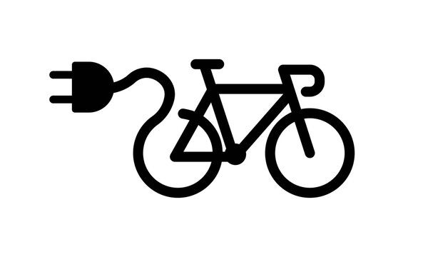 Electric bike icon. Vector on isolated white background. EPS 10