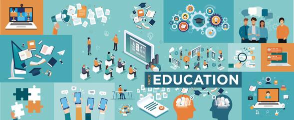 Obraz Online education concept - fototapety do salonu