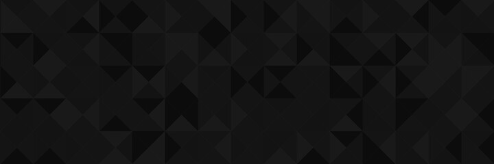 Abstract vector background from triangles. Background color is dark gray, black, gradient. Gradient pattern for design decoration. Conceptual background. Fototapete