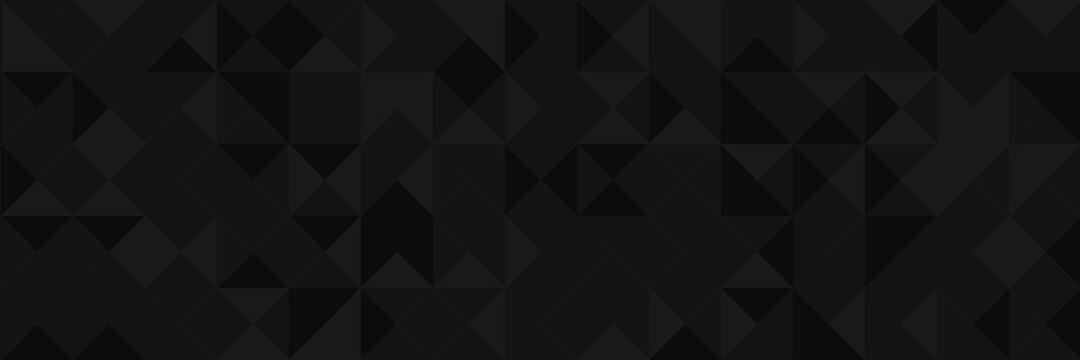 Abstract vector background from triangles. Background color is dark gray, black, gradient. Gradient pattern for design decoration. Conceptual background.