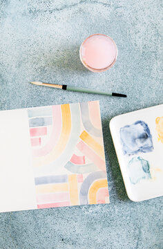 Painting at home with paints
