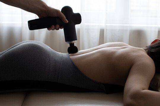 Massage Gun, Handheld Cordless Professional Percussion Deep Tissue Body Muscle Fascia Massager for Athletes. Helps Relax Relieve Muscle Soreness and Stiffness