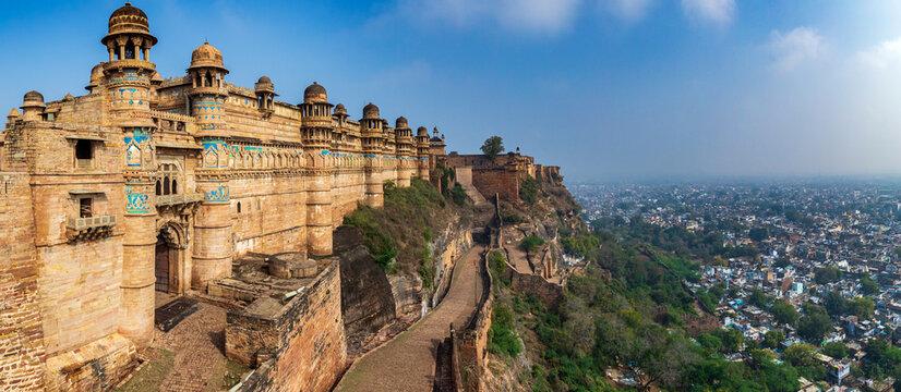 King Man Singh Palace in Gwalior fort, Gwalior, Madhya Pradesh, India