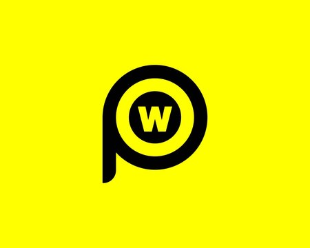 PW WP Letter logo design vector template