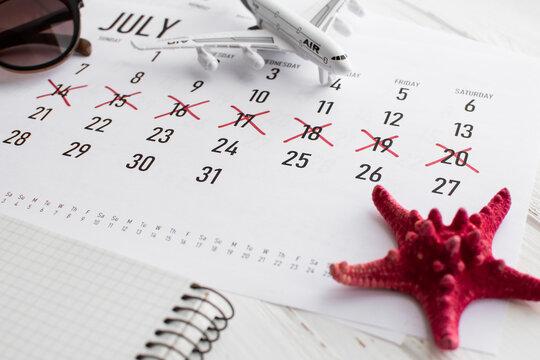 Vacation planning concept. Travel preparation