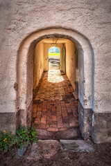 Fototapeta Backaskog Castle Courtyard Exit