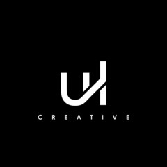 Obraz UL Letter Initial Logo Design Template Vector Illustration - fototapety do salonu