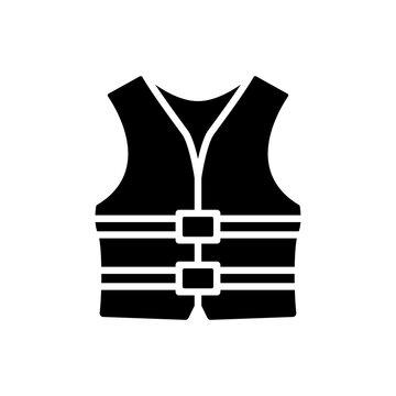 life jacket icon design vector template