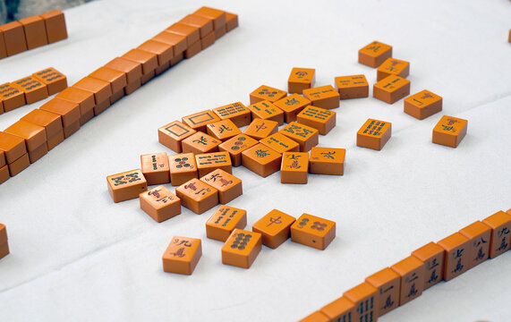 Old Mah Jongg tiles
