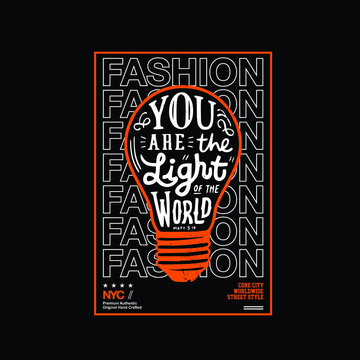 you are the light world simple vintage fashion