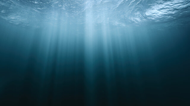 Underwater Light Rays In Dark Stormy Ocean Sea River Abyss Background Darkness Mystery Magical Exploration Unknown Fear Hope Hopelessness Deep Arctic Ocean Environment Protection Cold Clean Water