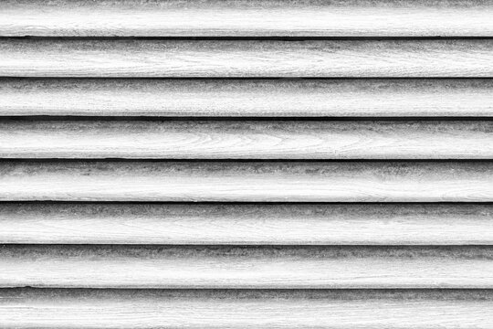 Old white wooden fence shutter lattice texture and background seamless