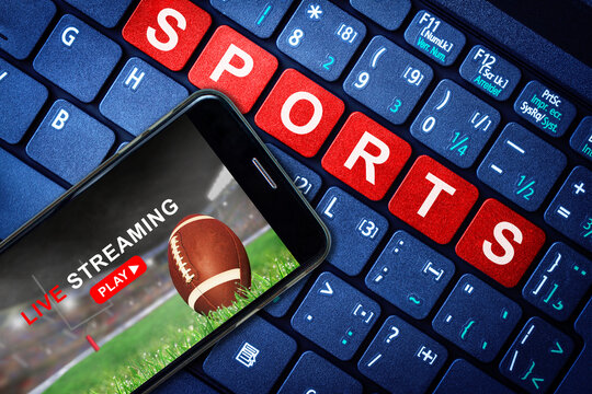 Sports Live Streaming Showing Football Game on Mobile Phone