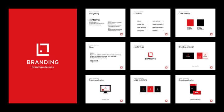 Minimalist luxury brand guide template