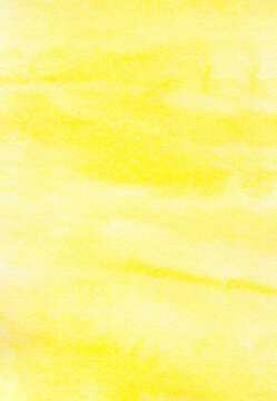 Watercolor background, Vertal yellow watercolour painting textured design on white paper background, Art abstract with copy space for banner, poster, wallpaper, backdrop