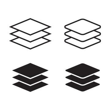Layers icon . Vector illustration