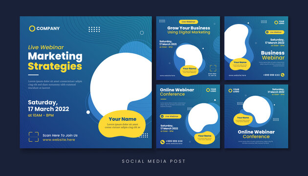 Business webinar social media post template