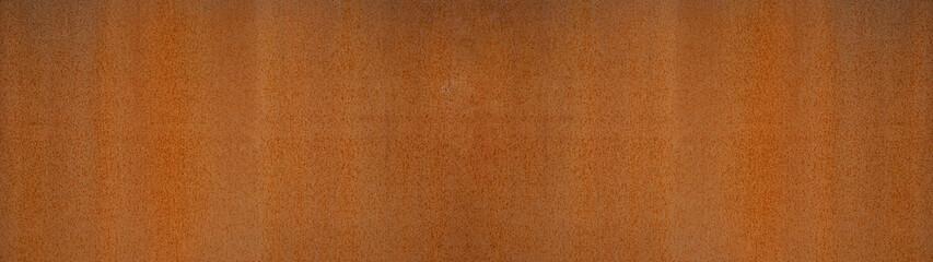 Fototapeta Grunge rusty orange brown metal steel stone background texture banner panorama
