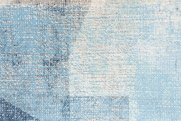 pastel blue painted canvas textured background, top view