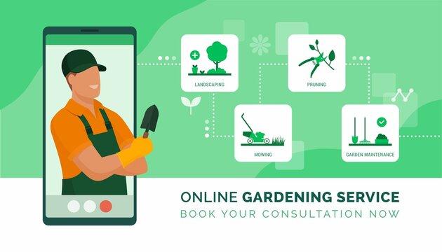 Online professional gardening consultation service