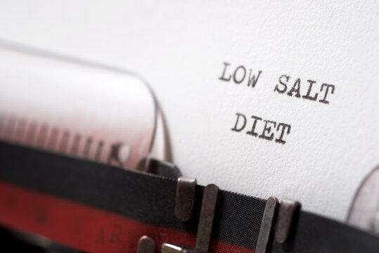 Low salt diet concept