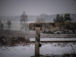 Schnee Schneefall Lönsstein Wietzer Berg Lüneburger Heide März 2021