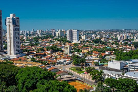 Goiania Goias Brazil on sunny day aerial view
