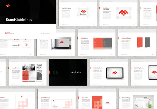 Brand Guidelines Black and Red Layout