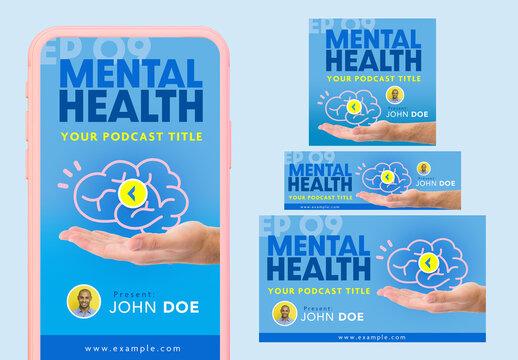 Mental Health Podcast Banner Set
