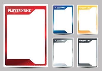 Fototapeta Hockey player card frame template design obraz