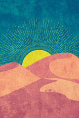 Grunge desert dunes