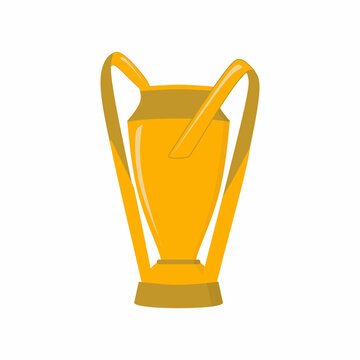 Major League Soccer cup trophy cartoon icon design isolated on white background. Premier professional soccer league in the United States and Canada. Creative soccer, champions cup concepts.