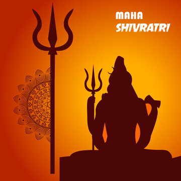 Happy Mahashivratri, Mahadev vector illustration.