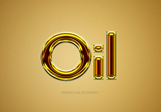 Oil Text Effect