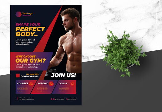 Fitness Flyer with Red  Accent