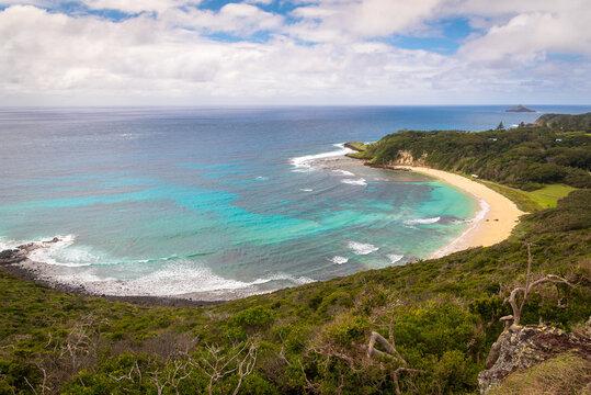 Neds beach on Lord Howe Island from Malabar Hill Hike