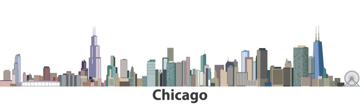 Chicago vector city skyline