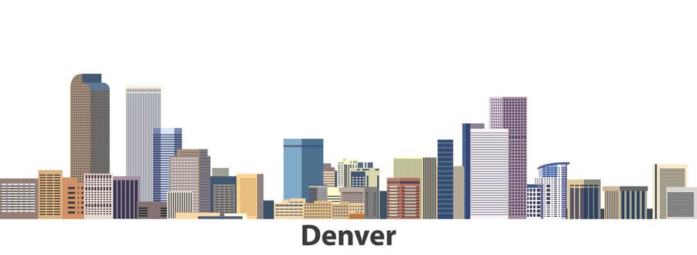 Denver vector city skyline