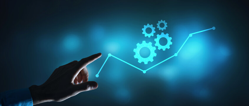 gears growth business success progress