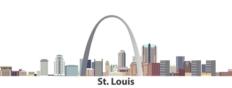 St. Louis vector city skyline
