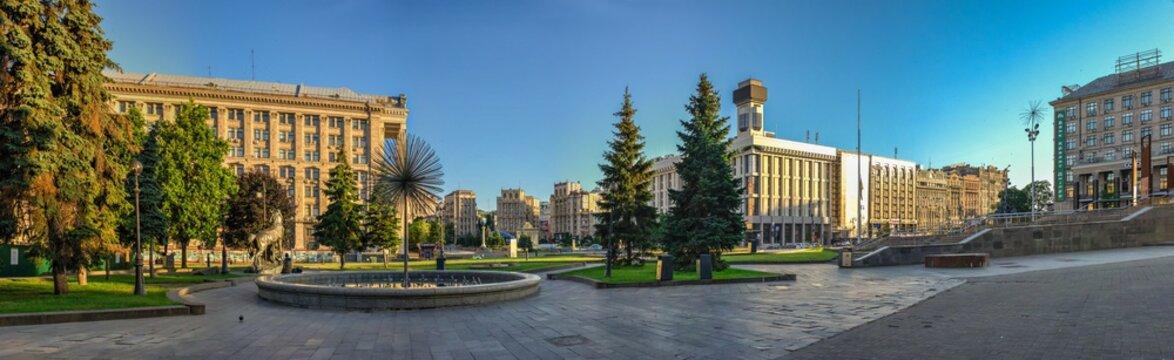 Maidan Nazalezhnosti in Kyiv, Ukraine