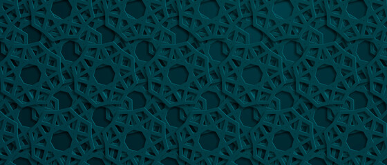 Arabic pattern background. Islamic ornament. Vector illustration