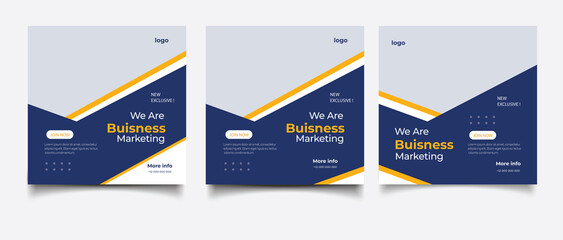 Obraz Creative business marketing banner for social media post template  - fototapety do salonu