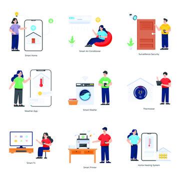 Smart Technologies Flat Illustrations Pack