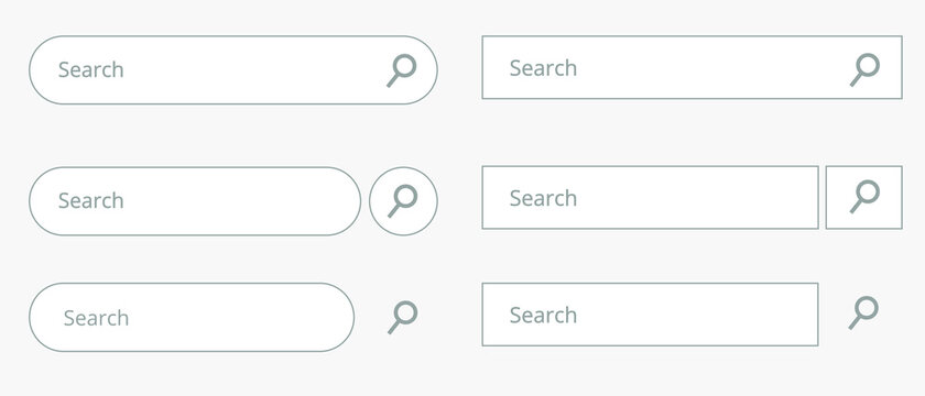 Search bar flat icon. Isolated vector symbol for web UI.