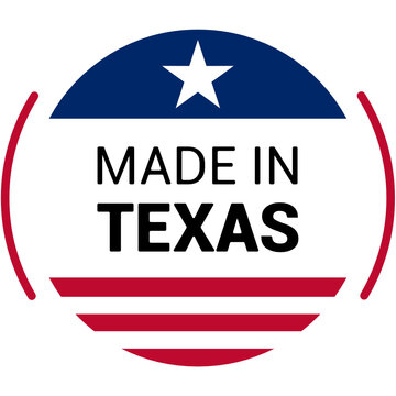 Made in texas logo. Color vector illustration.
