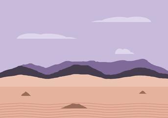 landscape desert mountains