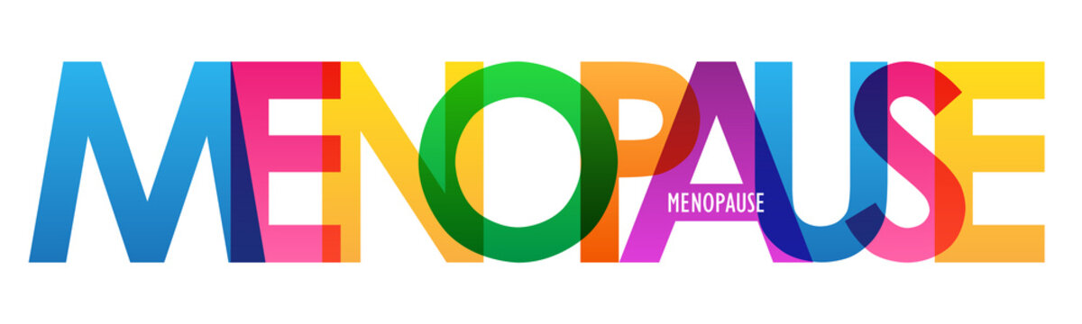 MENOPAUSE colorful vector typography banner isolated on white background