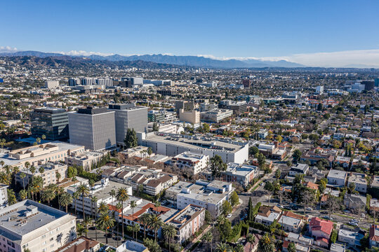 Aerial Views of Hollywood and Beverly Hills