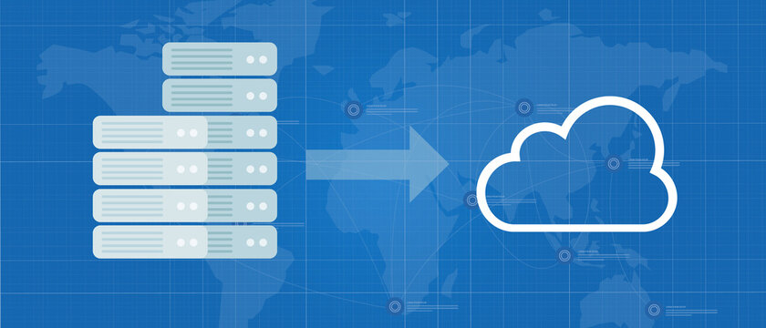 server migration to the cloud infrastructure move data to internet
